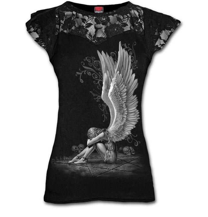 Dámske tričko s čipkou Krídla anjela