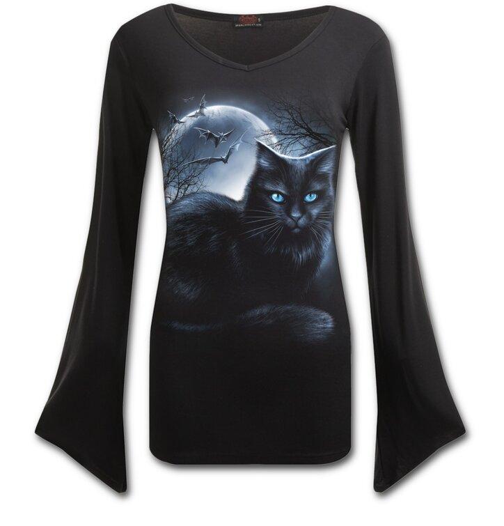 Dámské tričko Kočka za úplňku