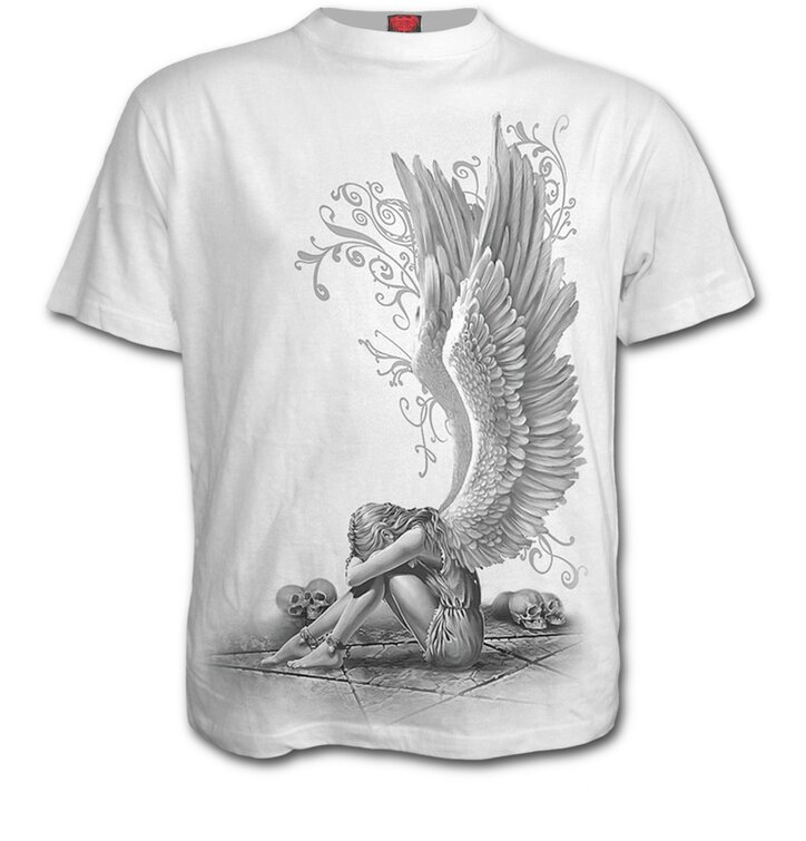 T-shirt Crying Angel White