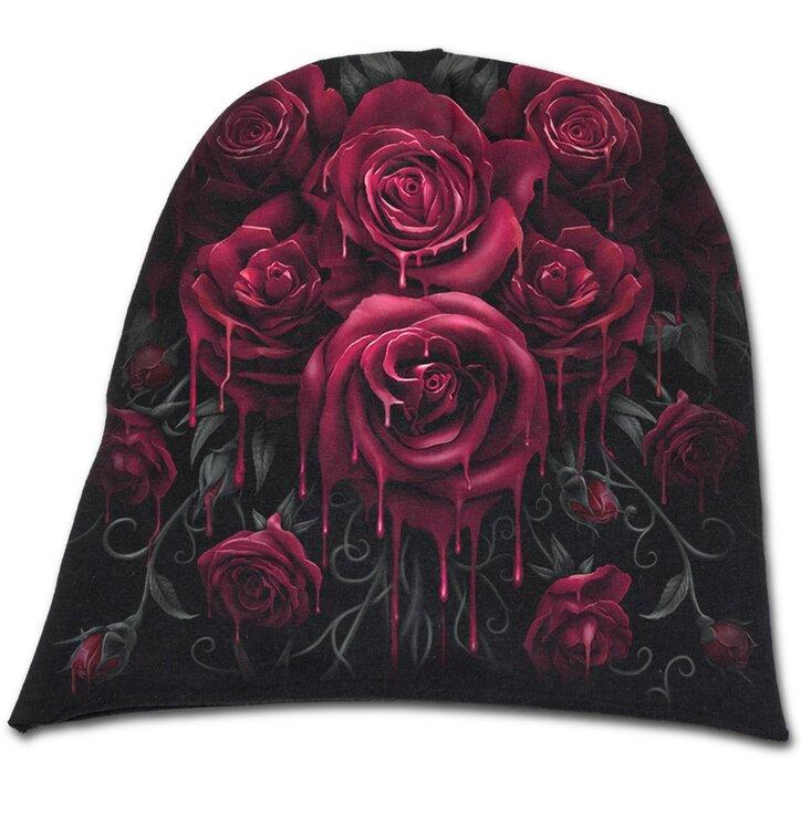 Beanie Mütze Blutige Rosen