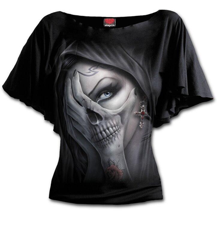 Dámske volánové tričko Ruky strachu