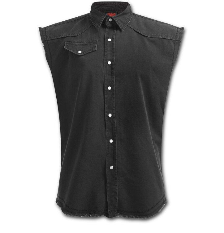 Košeľa bez rukávov Čierna