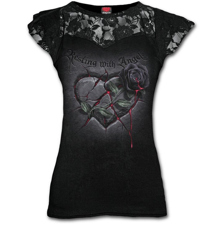 Ladies' T-shirt with Lace Angel's Heart