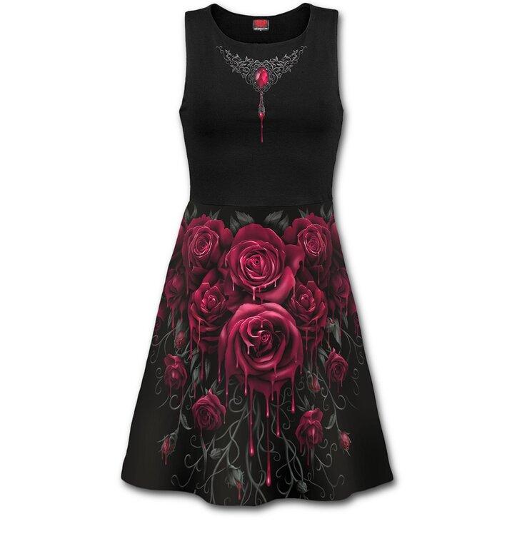 Midi šaty Krvavé ruže