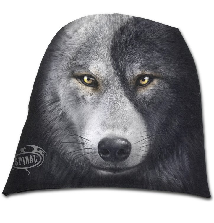 Beanie Cap Wolf's Face