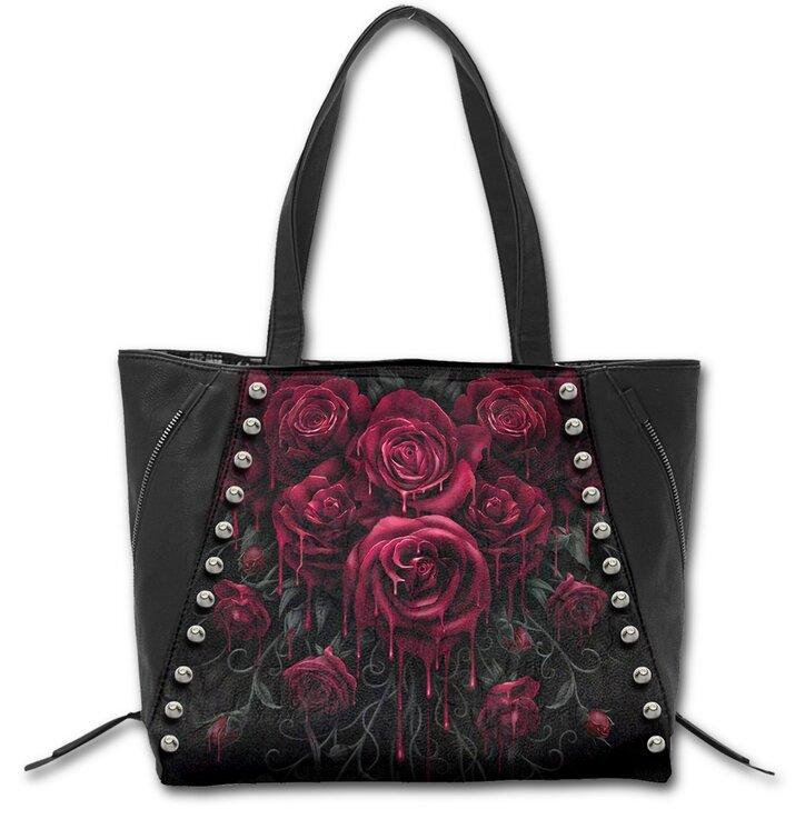 Black Shoulder Bag - Bloody Roses