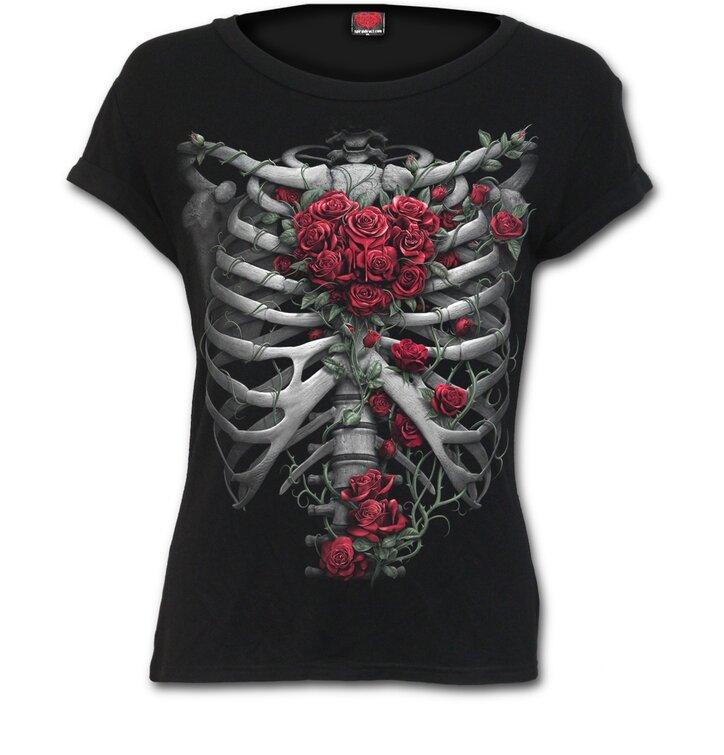 Dámské tričko Růžová žebra