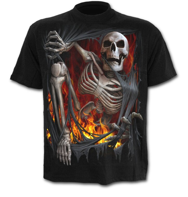 T-Shirt Tod im Feuer