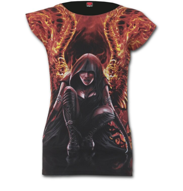 Ladies' T-shirt Flaming Angel