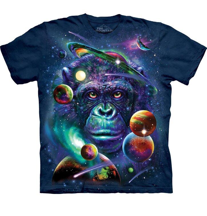 Kinder T-Shirt Affe im Weltall