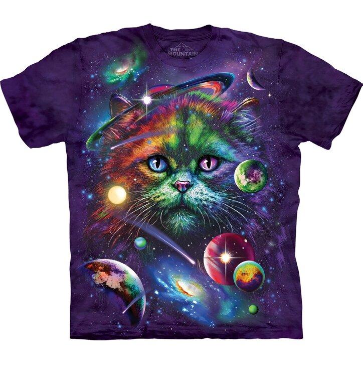 Kinder T-Shirt Katze und Weltall