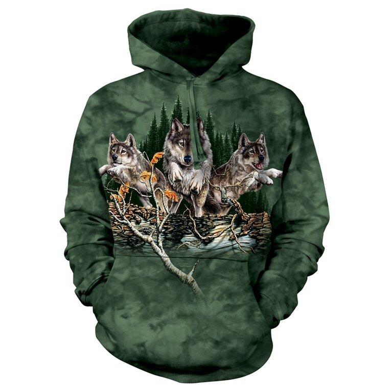 Sweatshirt mit Kapuze Finden Sie 12 3D Wölfe