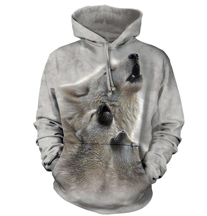 Výjimečný dárek od Dedoles Mikina s kapucí vyjící vlci 30b573436c