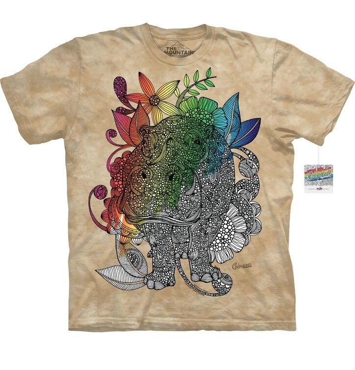 Mandala kiszínezhető póló - Víziló