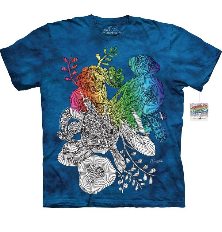 Mandala vybarvovací tričko Malá rybička
