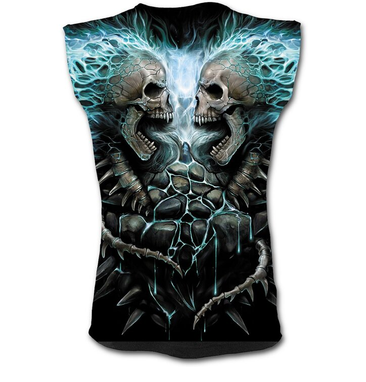 Men's Tank Top with Design Blue Flame
