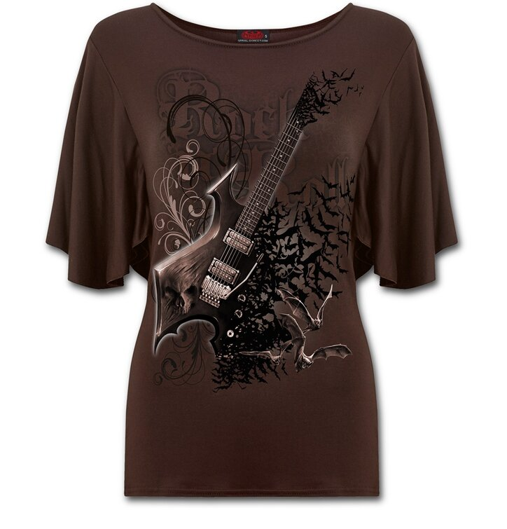 aa4f6d8e2d Női fodros póló Rock gitár | Dedoles