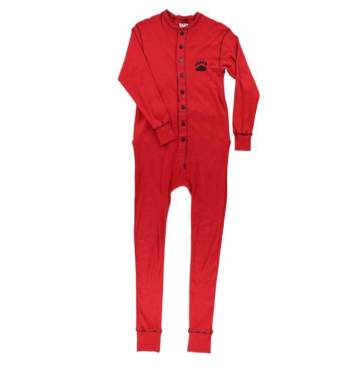 Ajándék tipp Piros kezeslábas pizsama Medve mancs 9daa881fe7