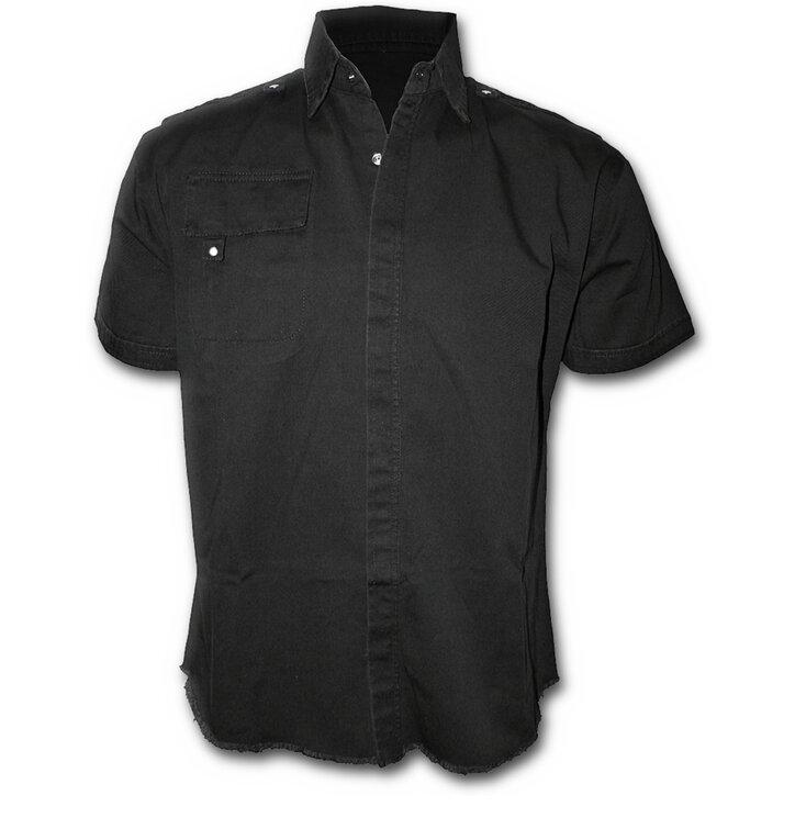 5ddfa2266612 Výnimočný darček od Dedoles Čierna pánska košeľa s krátkym rukávom