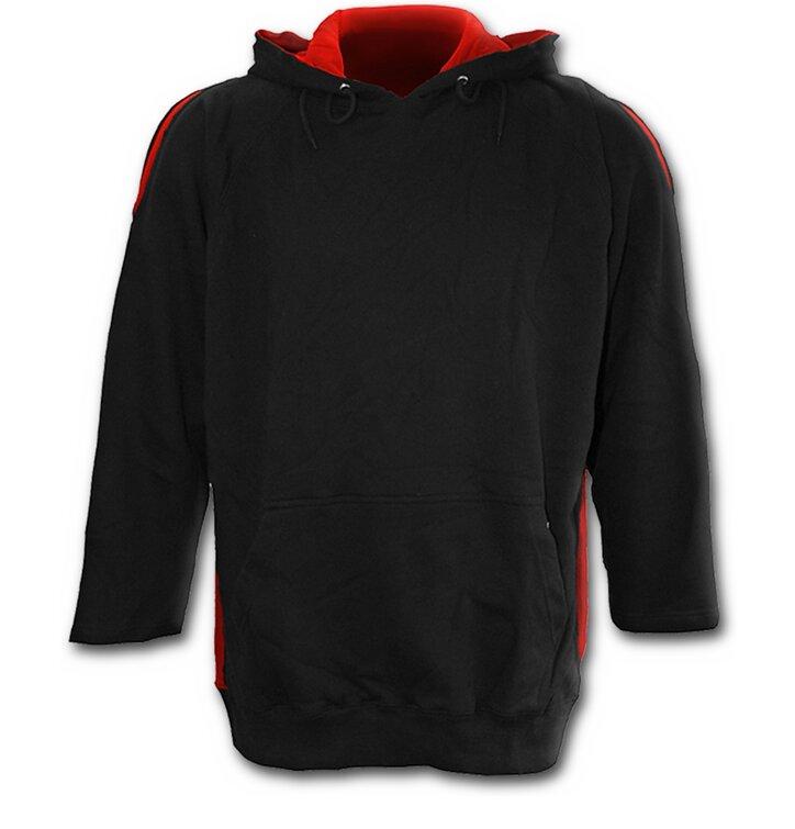 pro dokonalý a originální outfit Černá pánská mikina klokanka 022b3e2ef2