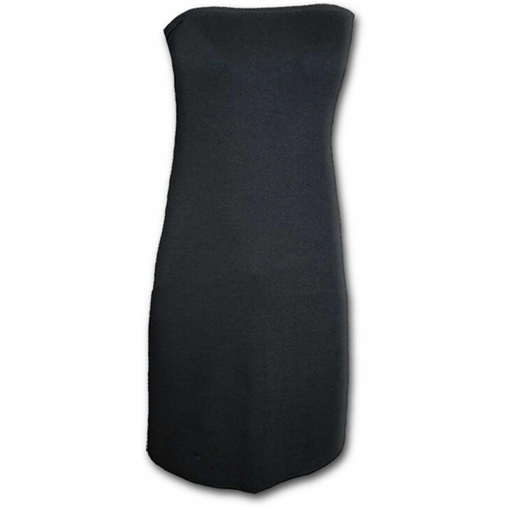 13480963c451 Pre dokonalý a originálny outfit Čierne krátke šaty bez ramienok