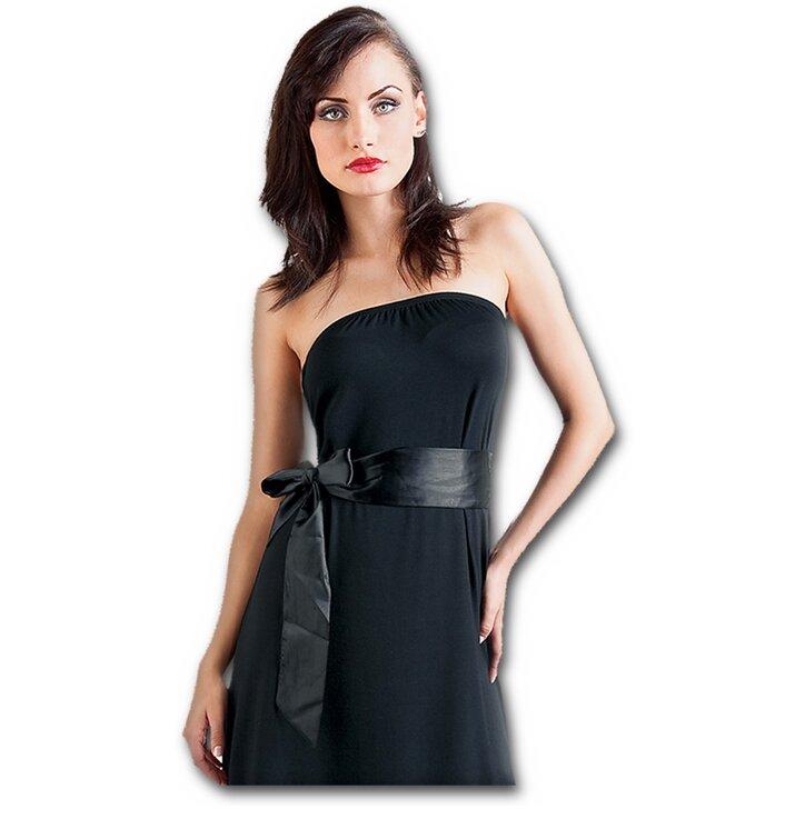 2a9fc040b0 Kiárusítás Rövid fekete váll nélküli ruha