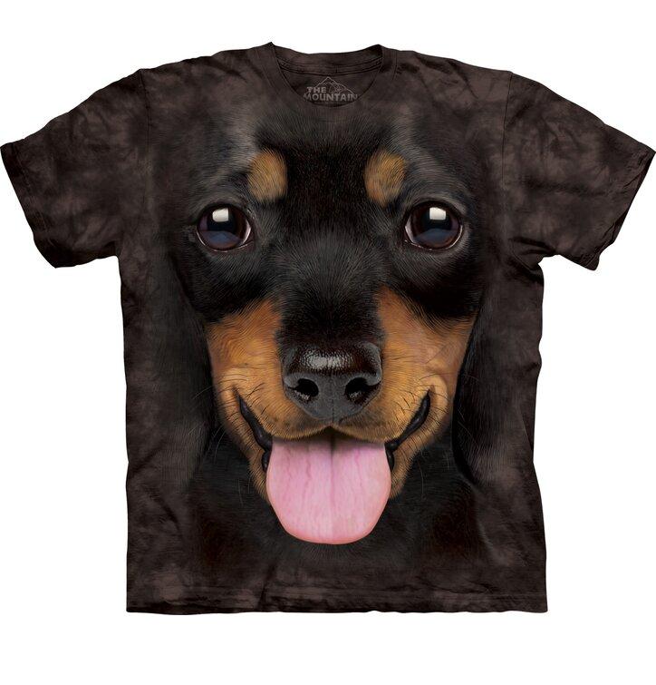 Black T-shirt Dachshund Puppy