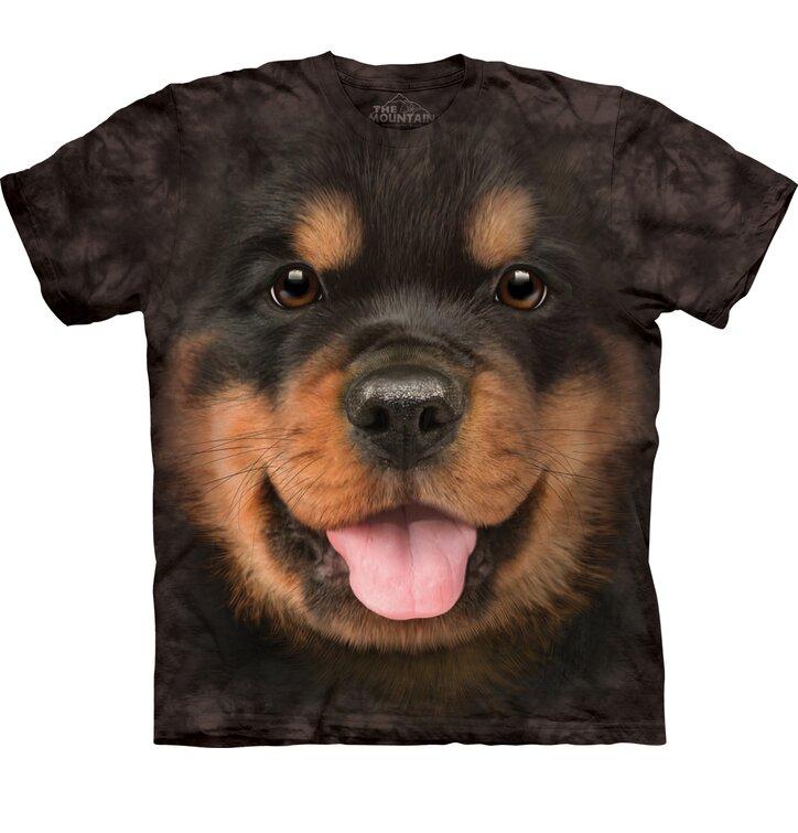 Čierne tričko Šteniatko rotvajlera
