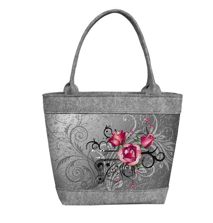 Dámska filcová kabelka Polo Tri ruže