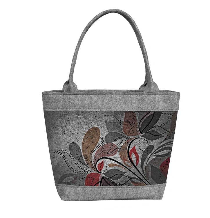 Ladies' Eco-felt Polo Handbag Earthy Flowers