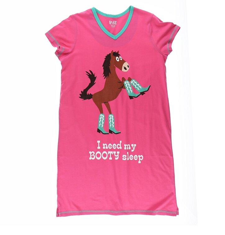 Dámska nočná košeľa s véčkovým výstrihom Kôň v čižmách