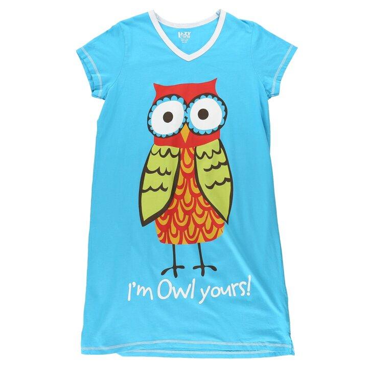 57360d0fc477 Hľadáte originálny a nezvyčajný darček  Obdarovaného zaručene prekvapí  Dámska nočná košeľa s véčkovým výstrihom Sova