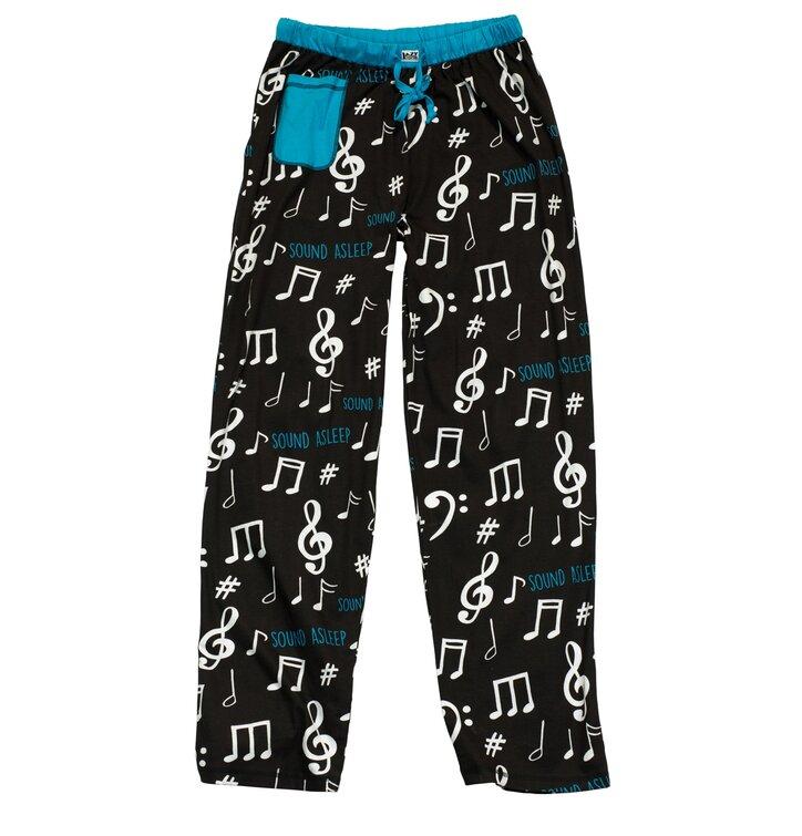 Dámske modré pyžamové nohavice Noty