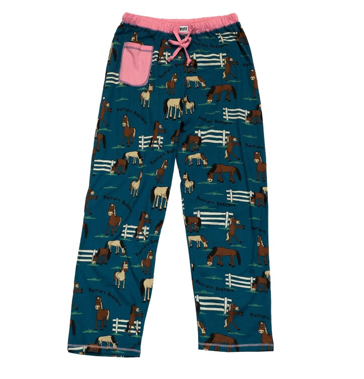 Dámske modré pyžamové nohavice Ospalý kôň