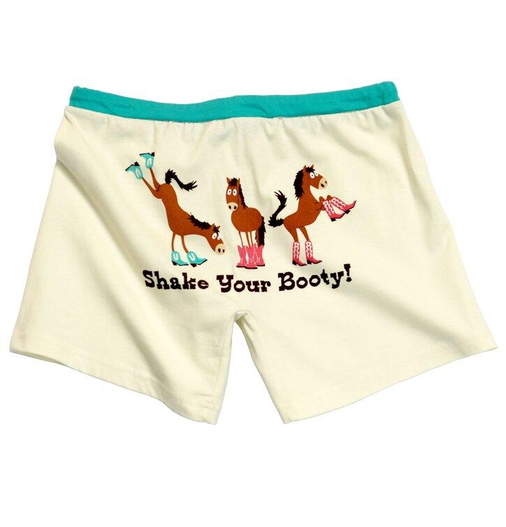 Dámske pyžamové boxerky Kôň v čižmách
