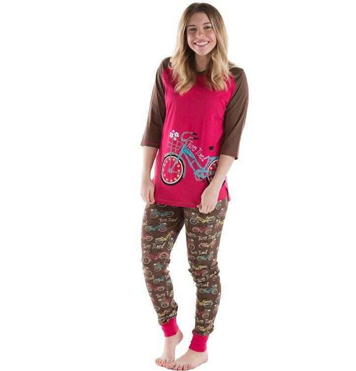 lowest price cefad bcc40 Damen Pyjama-Leggings Retro Fahrrad | Dedoles