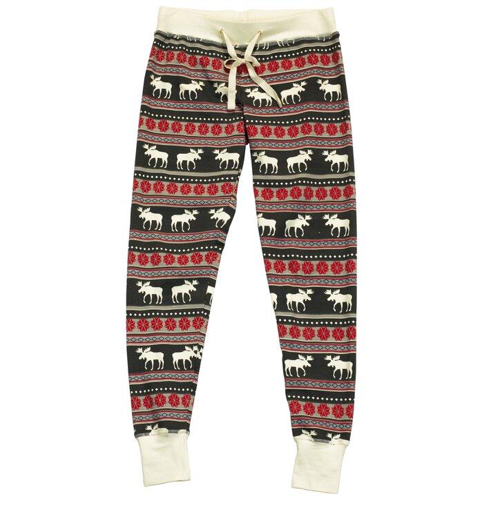 Ajándék tipp Női pizsama leggings Karácsonyi jávorszarvasok 94aa612e3e