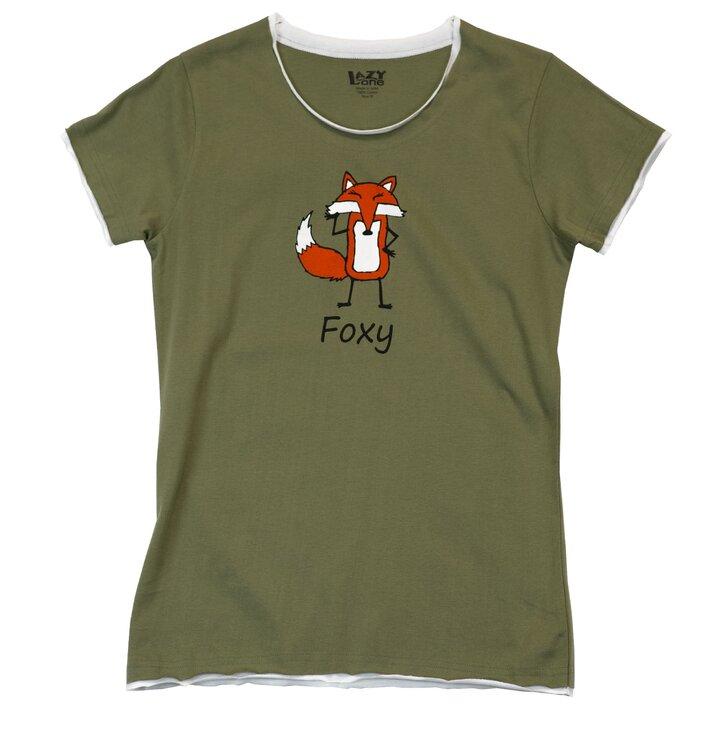 Dámske tričko na spanie Foxy