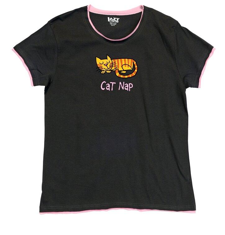 Dámske tričko na spanie Mačky
