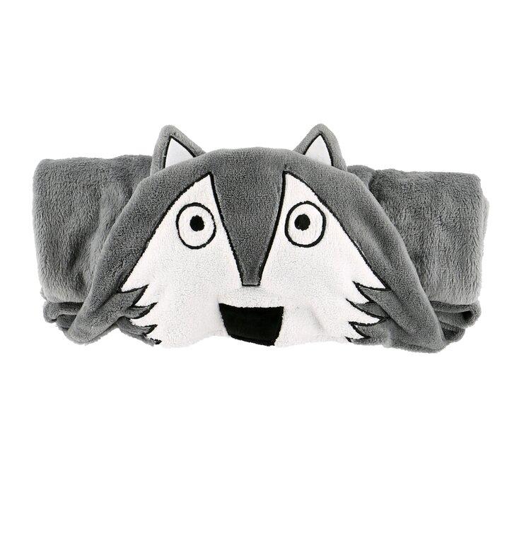 Dětská deka s kapucí Vlk