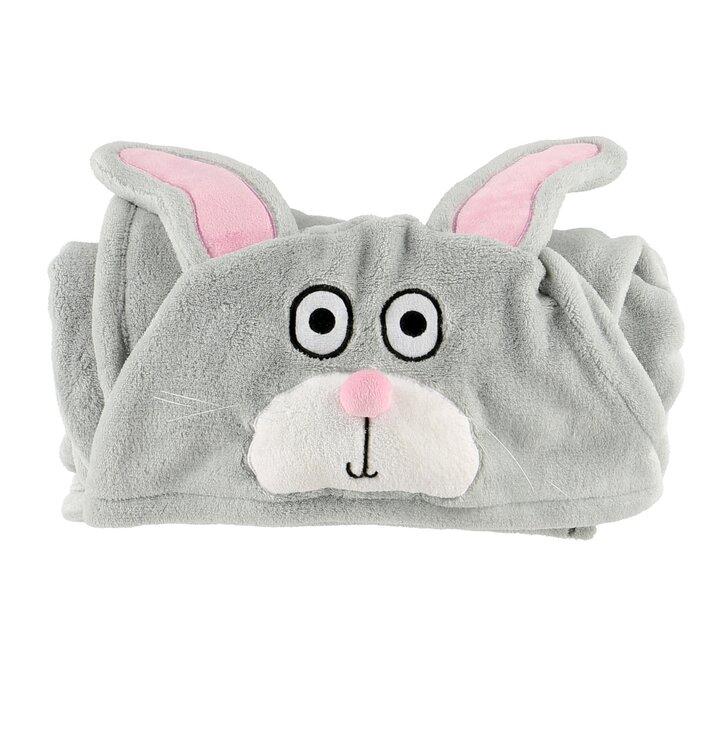 Detská deka s kapucňou Zajac