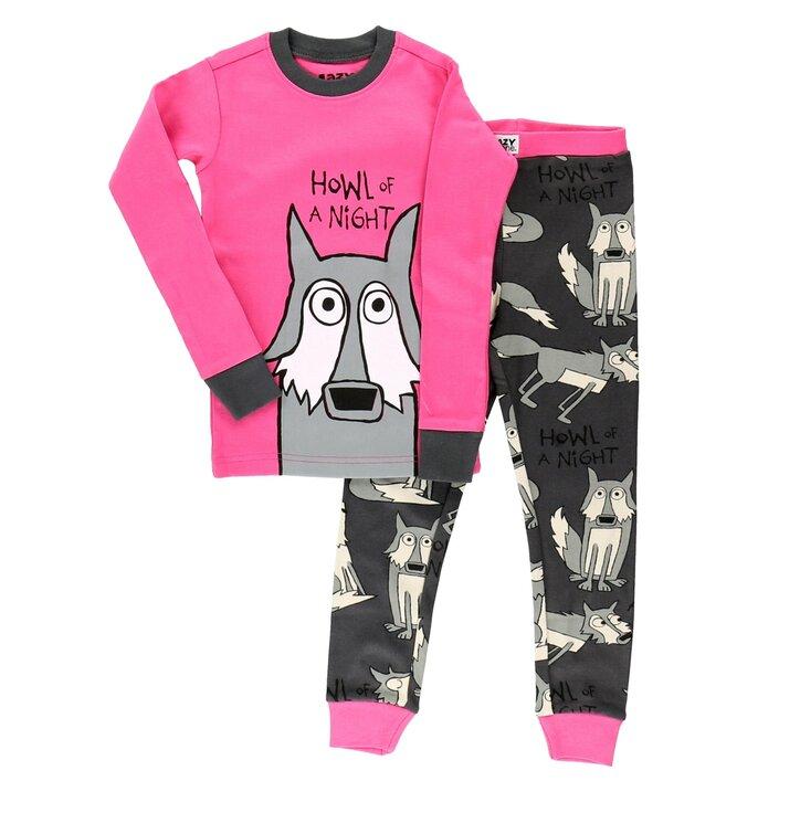 Pijamale copiii roz Lupul nopții