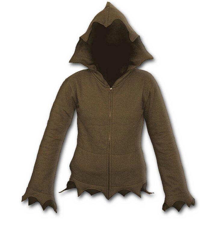Hľadáte originálny a nezvyčajný darček  Obdarovaného zaručene prekvapí Hnedá  mikina na zips s kapucňou b6d1803641c