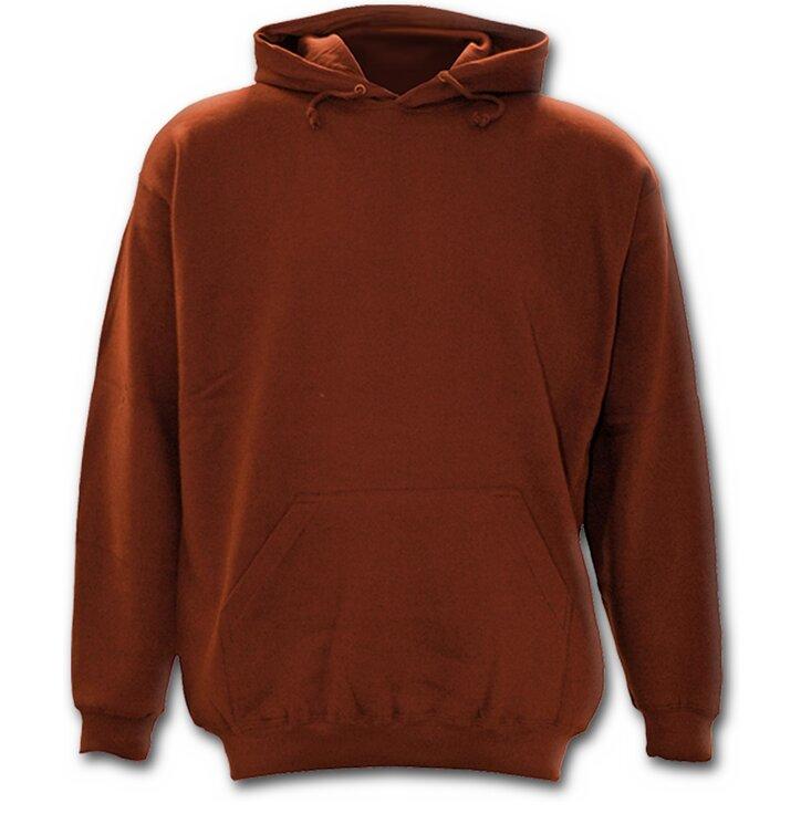 Kedvezmény Barna színű kapucnis férfi pulóver 6f2b9ade5f