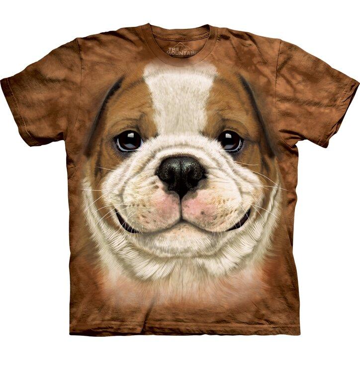 Hnedé tričko Šteniatko bulldoga