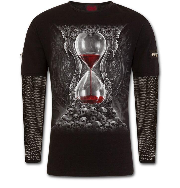 Tričko s dlhým sieťovaným rukávom Krvavé presýpacie hodiny