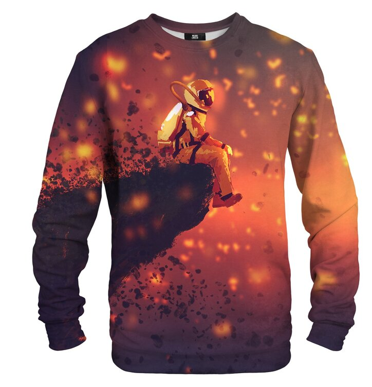 Sweatshirt Astronaut on Volcano
