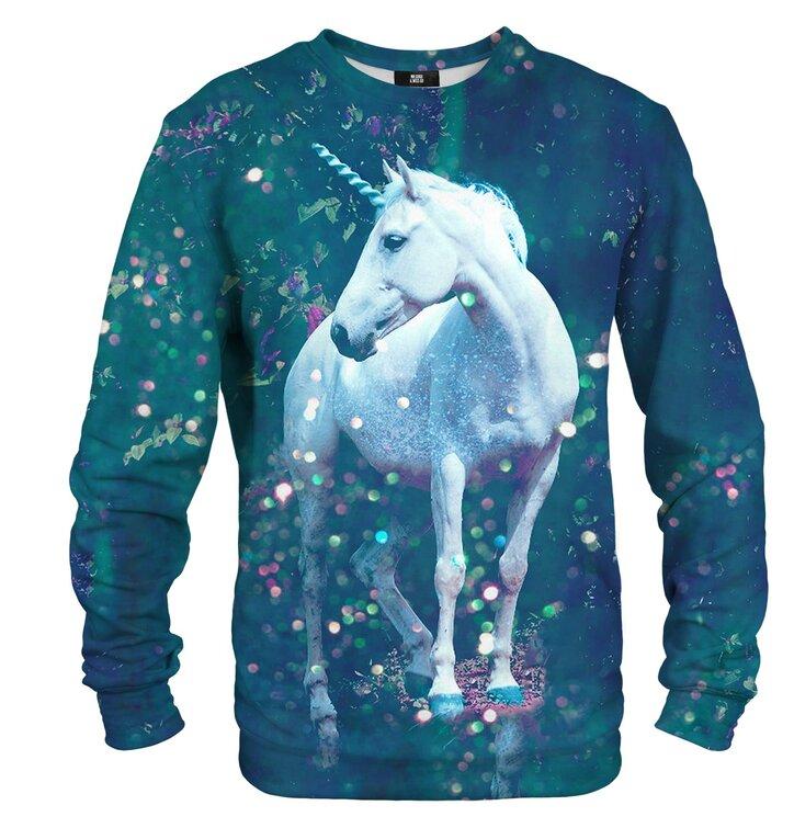Sweatshirt ohne Kapuze Weißes Einhorn