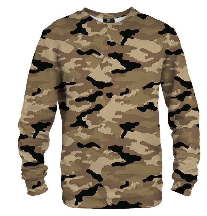 Pulover brez kapuce Rjavi Army