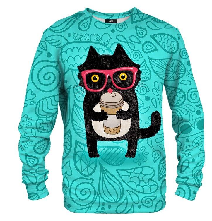 Pulover brez kapuce Mačka z kavo